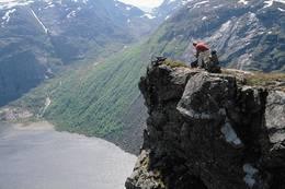Ovenfor Viglesdalen kneiser den spennende fjellformasjonen