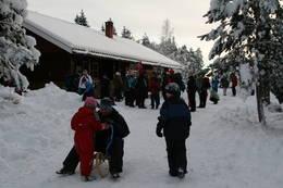 På tur etter nissen til Heisetra i desember - Foto: Petter Nordby
