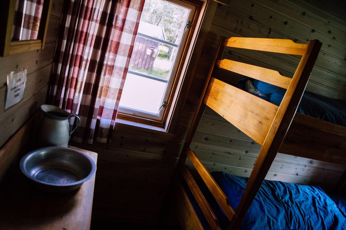 Hytta har 25 sengeplasser.