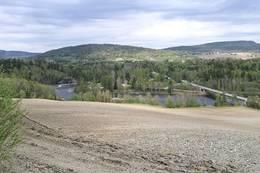Utsikt over dalen fra Liåsen mot Brufossen -  Foto: Marek Lemanski