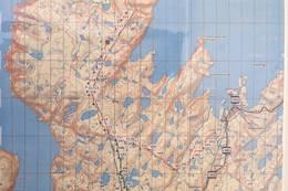 kartet som ruten er basert på.  - Foto: Magnus Holter Bjørkto
