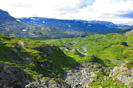 Utsikt fra dammen ved Sandvatn -  Foto: Kalle Simm