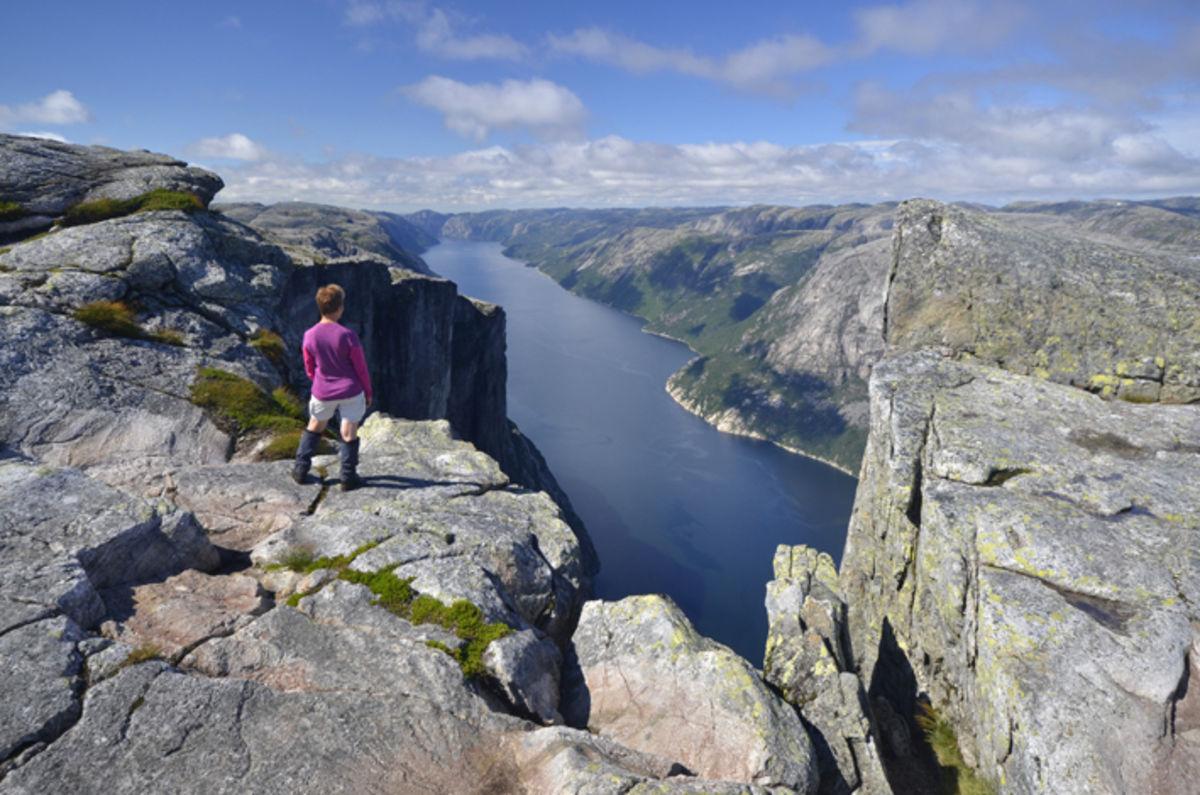 Utsikt mot Lysefjorden