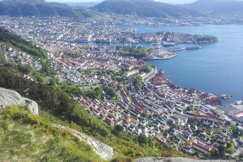 Utsikt fra toppen av Stoltzekleiven