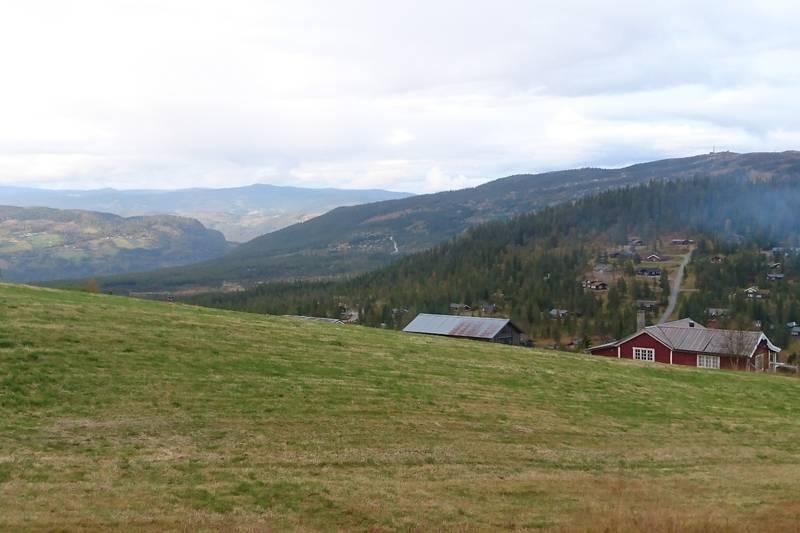 Fra Bøgaset mot alpinanlegget Natten og Rukkedalen.