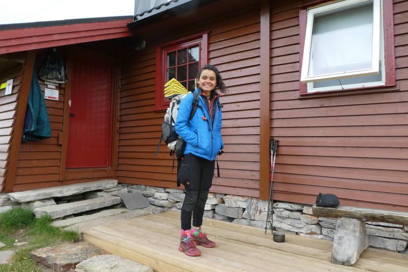 En Norge-på-langs-vandrer er fornøyd med tilbudet på hytta