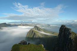 Tåka kommer over Husfjellet - Foto: Julie Maske