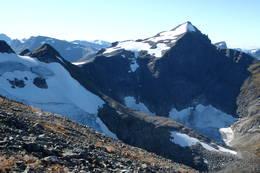 Fra oppstigninga til Leirvasshornet mot Nordre Smørskredtinden -  Foto: Åsmund Steen