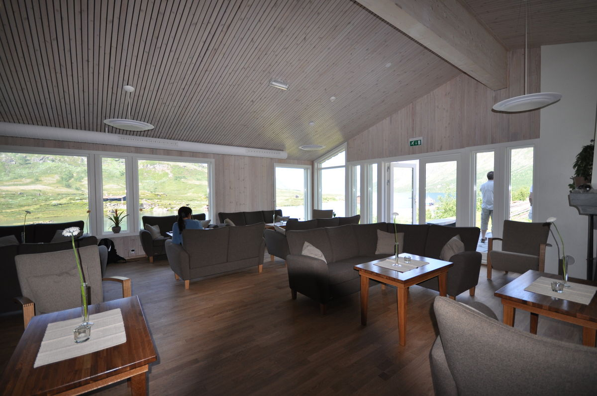 En av de nye stuene på Gjendesheim