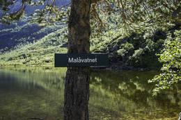 Skilt ved Malåvatnet - Foto: Kjell Fredriksen