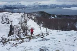 Bildet viser hvor vi kom opp - Foto: Kjell Fredriksen