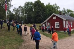 HMK Dronning Sonja på besøk på Blektjern høsten 2017 - Foto: