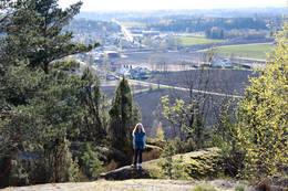 Utsikt fra Skaanevetan - Foto: Ukjent