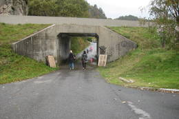 På veien fra Tangvall til Søgne Kunstgress. - Foto: Ukjent