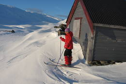Fine skiforhold ved stølene ved Åsedalen. - Foto: Torill Refsdal Aase