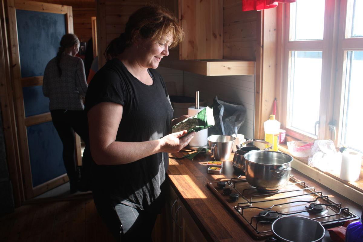 Kjøkkenkroken på hytta