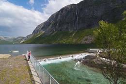 Utløpet av Sildhopvatnet -  Foto: Kjell Fredriksen