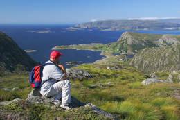 På toppen av Storeskaret. - Foto: Per Godø
