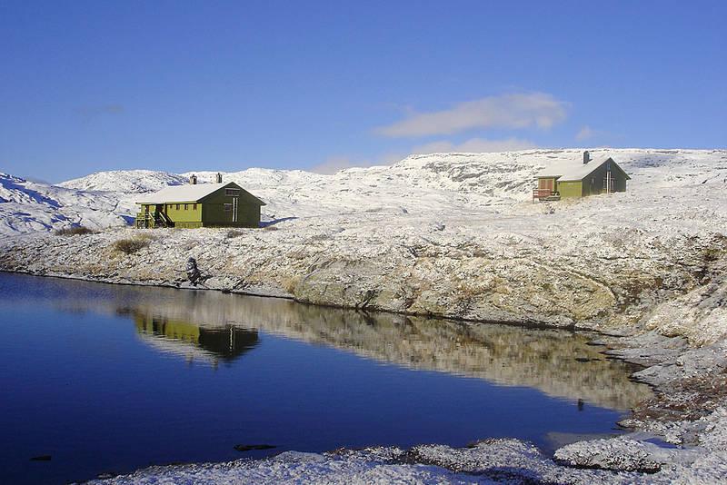 Selhamar etter et lett snøfall høsten 2005