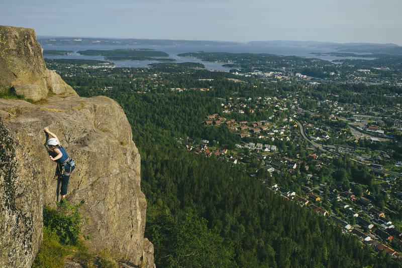 Det finnes også klatremuligheter på Kolsåstoppen