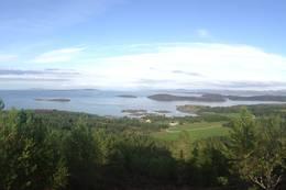 Utsikten en flott ettermiddag i august. -  Foto: Anne Lotte Olsen