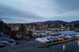 Utsikt fra fossen mot Hommersåk -  Foto: Jone H Simonsen