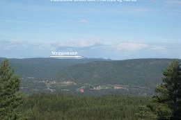 Utsikt fra hytta - Foto: Per-Erik Dybdahl