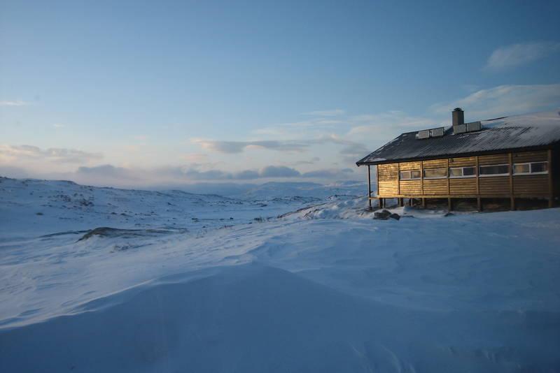 Solnedgang på Kjeldebu, Hardangervidda 1. januar 2010