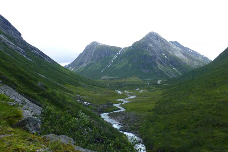 Utsikt tilbake i Skjerdingsdalen