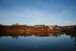 Idyllisk sommerkveld ved Eriksbu -  Foto: Kongsberg og Omegns Turistforenig