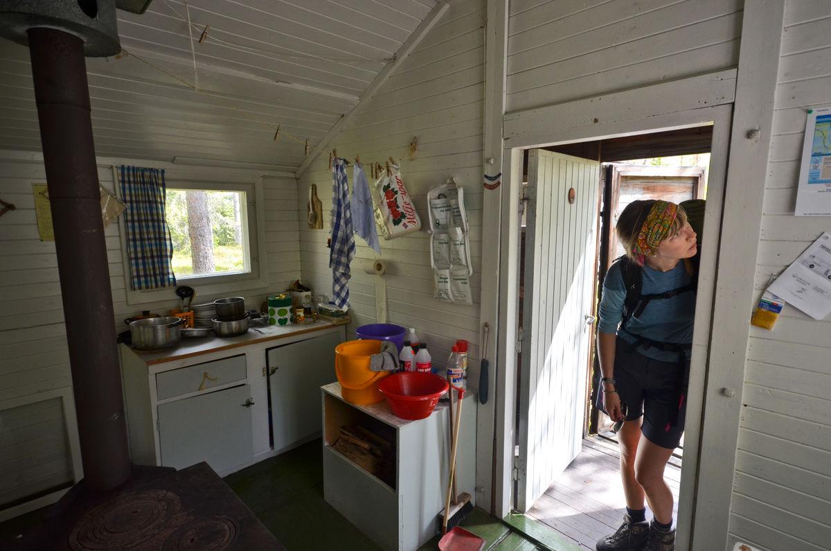 Kjøkkenkrok og Finnskogvandrer