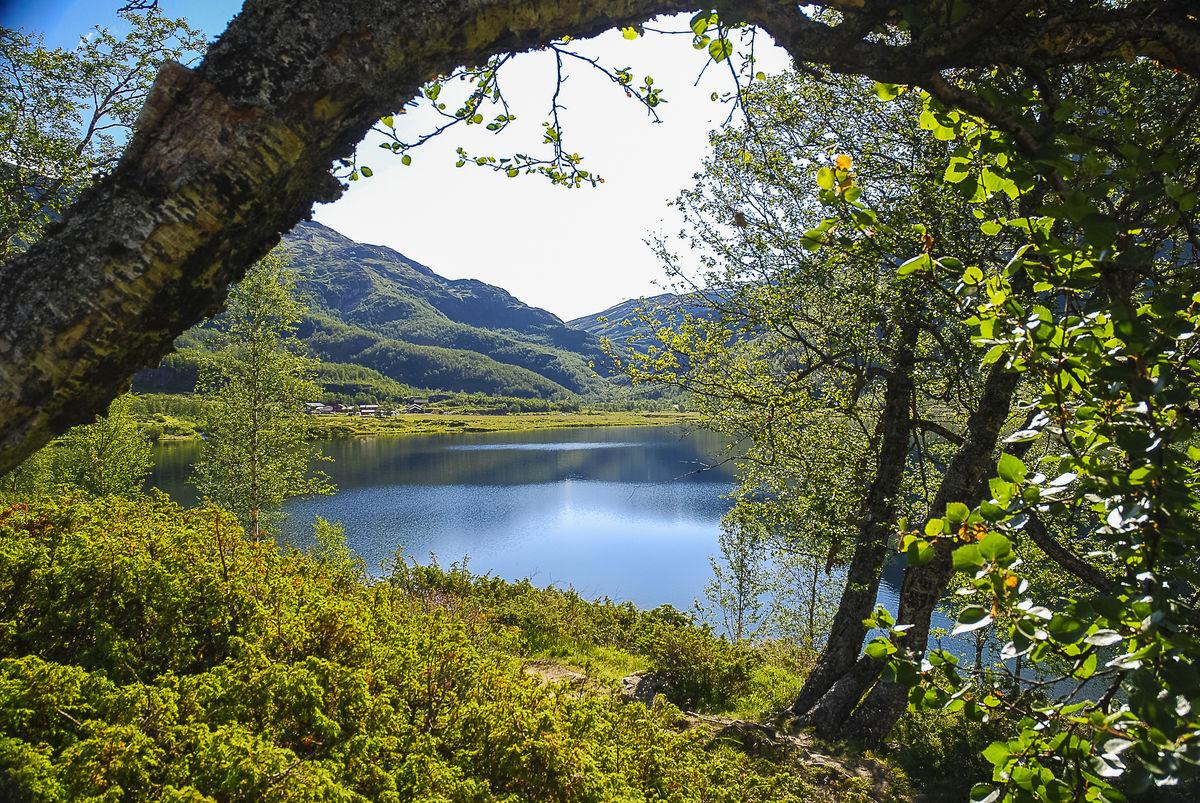 Østerbø ligger idyllisk til ved Aurdalsvatnet