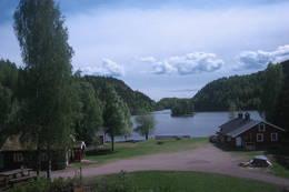 Trollsvann med Annekset og hovedhytta - Foto: Ukjent