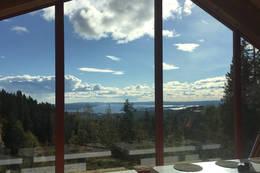 Utsikt fra stuen -  Foto: Eivind Kleiven