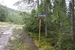 Følg merking Gammel Seterveg - Foto: Karl Arne Melbye