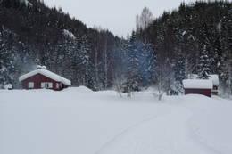Trollsvann -hovedhytte og anneks -  Foto: Anne-Lene Edvardsen