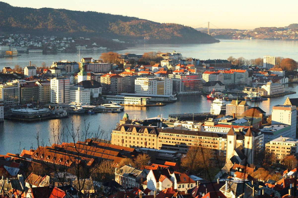 Fjellveien er utsiktsturen for syklister i Bergen