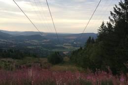 Utsikt fra toppen av Svarstad skisenter -  Foto: Tor-Erik Larsen