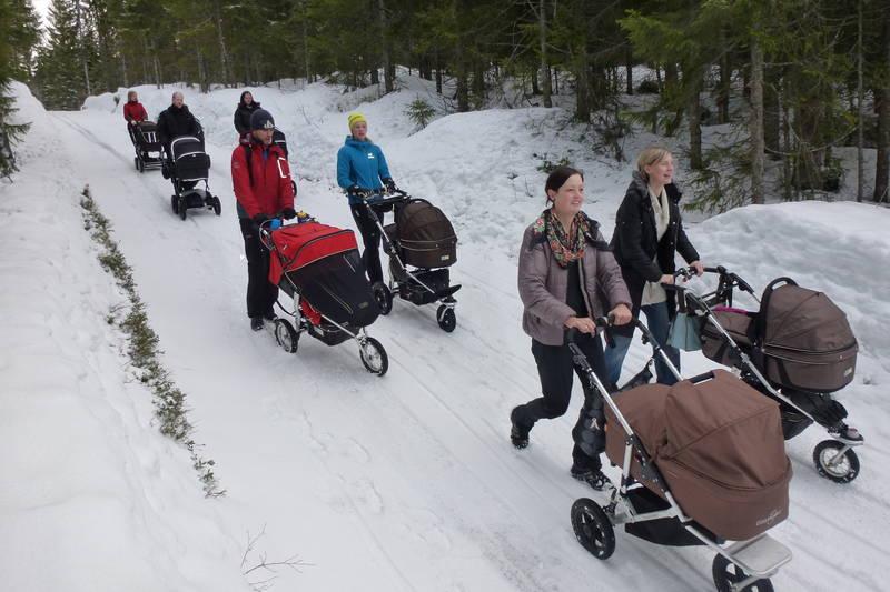 Det er vinterbrøytet til Rønningen i Bymarka