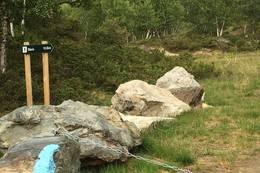 Skilting ved turstart -  Foto: Steinar Tolf Jacobsen