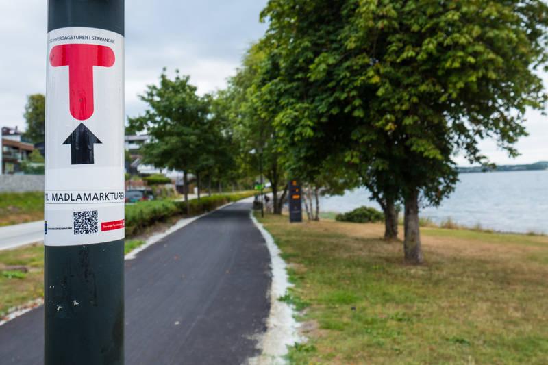 Gang- og sykkelveien langs Madlaveien er den reneste motorveien for myke trafikanter.