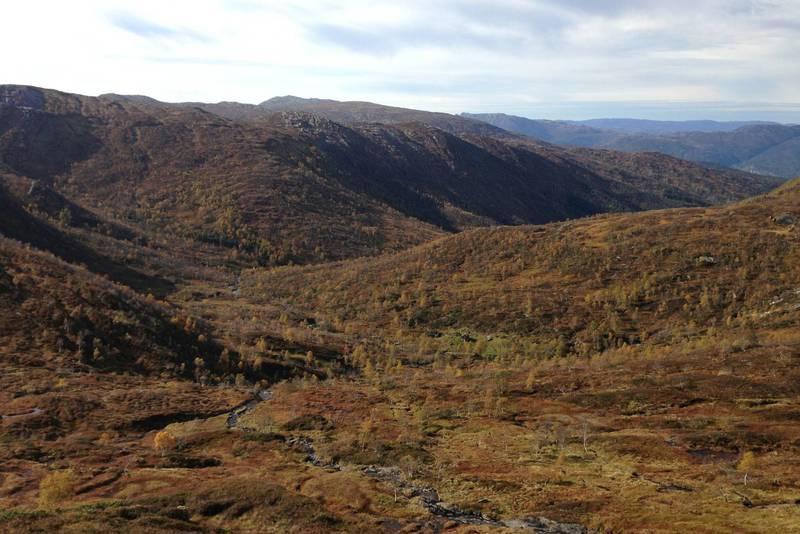 Utsikt ned til Rasdalen