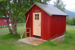 Hundehuset hvor det også er plass til to tobente - Foto: Bodø og Omegns Turistforening