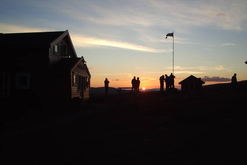 Solnedgang på Stigstuv