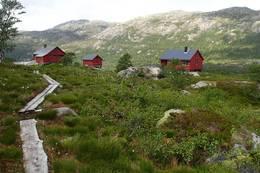 Blåfjellenden ligger vakkert til  -  Foto: Reidar Block Johnsen