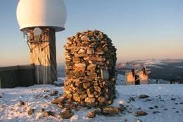 Arbeid med varmebua på Kjølen -  Foto: Pål Tengesdal