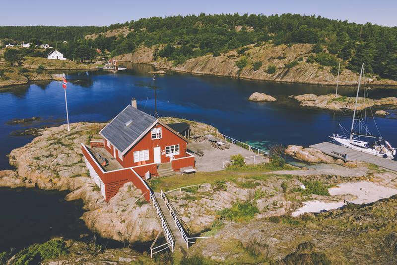 Seilerhytta ligger idyllisk til på Bjorholmen