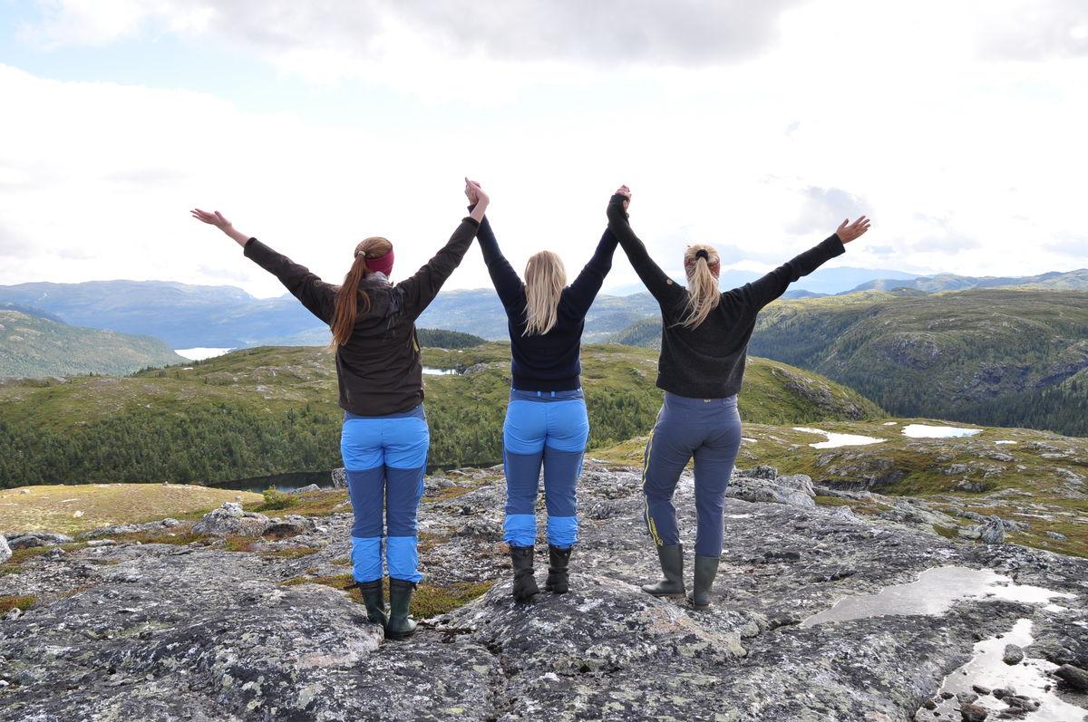 God stemning på toppen av Strøslifjell