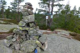 Toppvarden på Stubbekollen -  Foto: Sissel Rohølhaugen