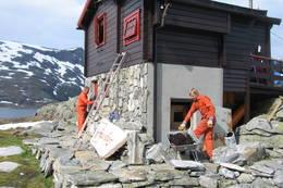 Dugnad på Tjønnebu - Foto: J. A. Skogtrø